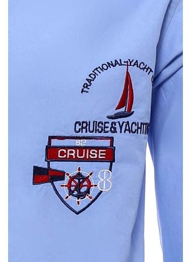 Wessi Erkek Cruise Yachting Armalı Gömlek Lacivert